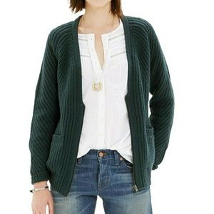 Madewell Sweaters - Madewell Wool Zip Up Cardigan Green  Sz S